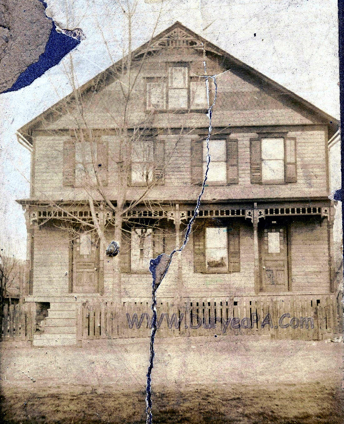Pa Duryea Pesotine House Foote And Hallstead Streets on House Family 1900