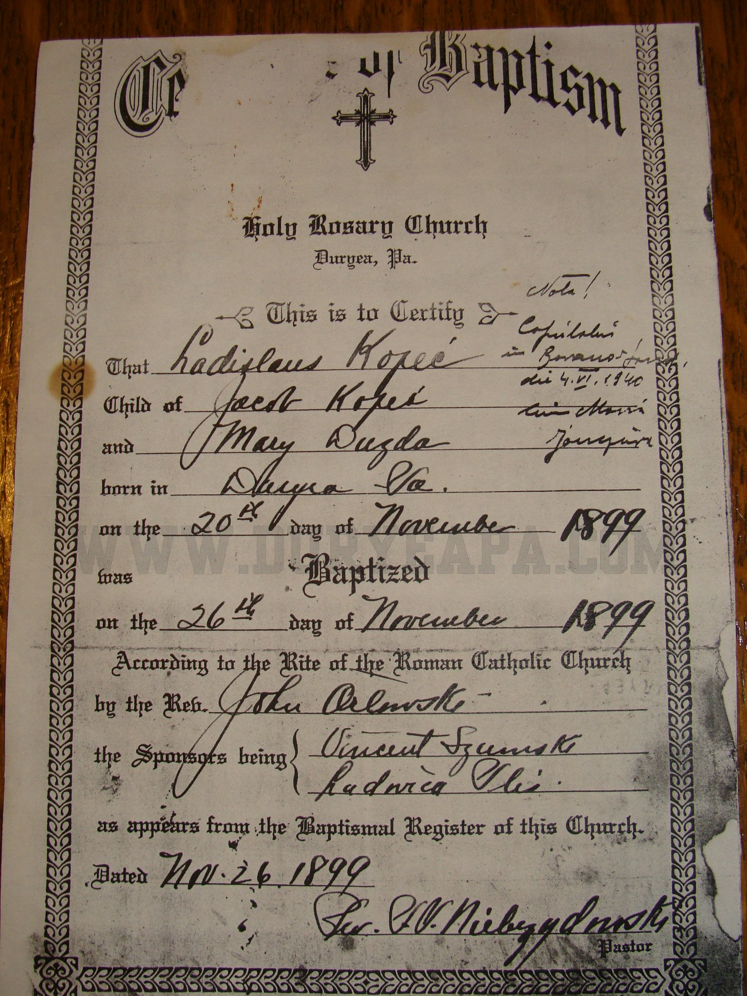 Duryea pennsylvania historical homepage 2012 1st update pa duryea 1897 baltimore harry louis birth certificate pa duryea 1898 baltimore sadie birth certificate aiddatafo Image collections