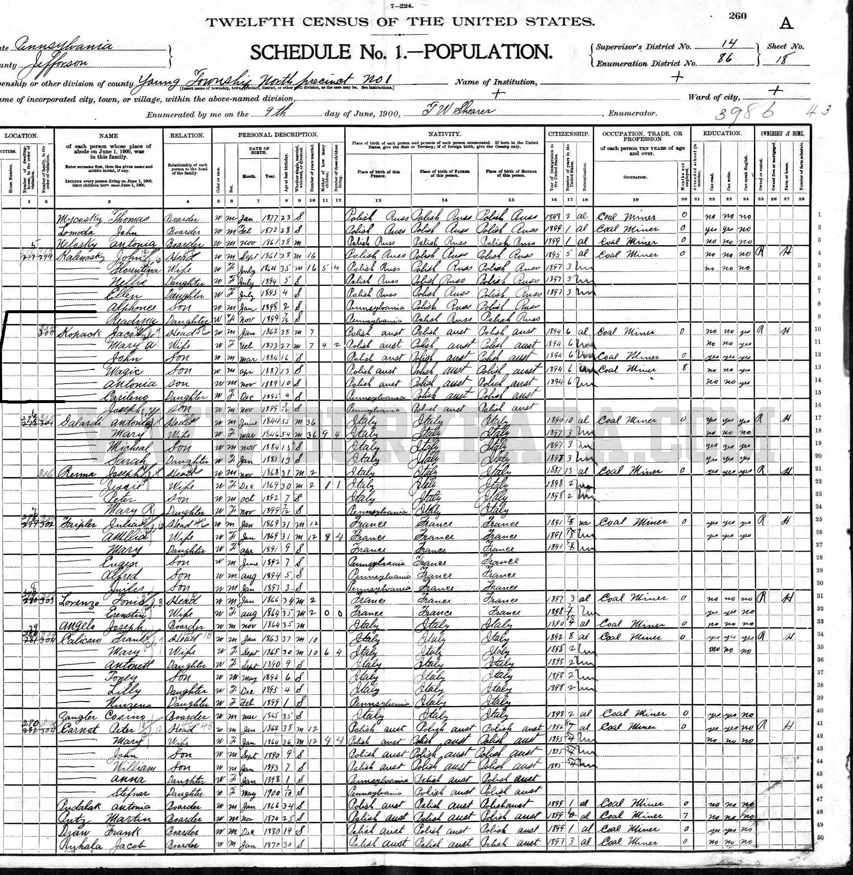 Duryea pennsylvania historical homepage 2012 1st update pa duryea 1898 baltimore sadie birth certificate pa duryea 1899 kopec ladislaus or wladyslaw baptism paper pa duryea 1900 baltimore mary 422 main st aiddatafo Image collections
